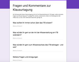 Screenshot ITB Klausurtagung 2