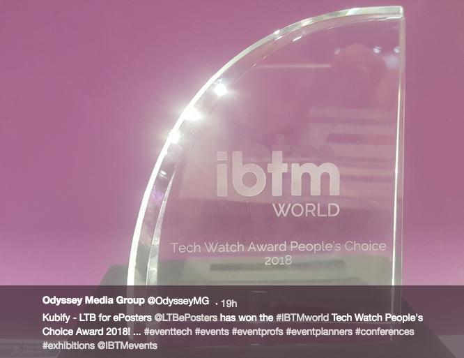 The IBTM World Tech Watch Award 2018