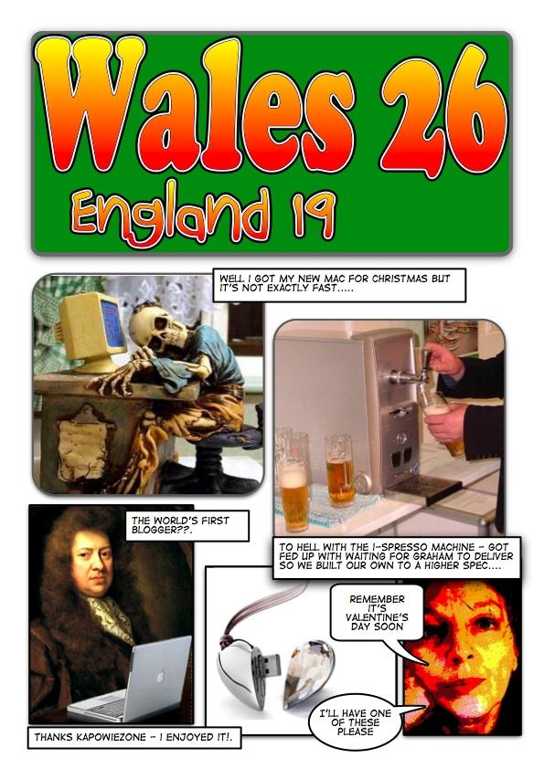England vs. Wales Comic