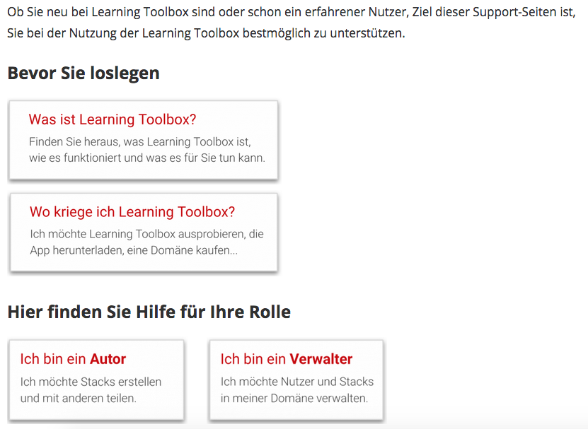LTB Support page DE 2020